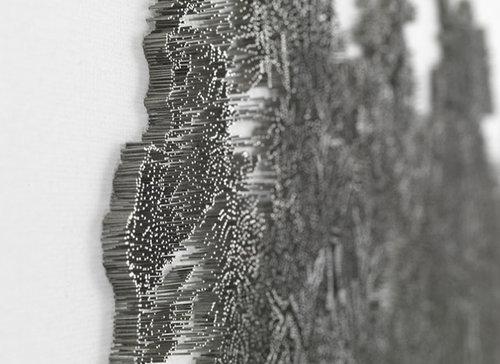水墨画のような「釘」アート03