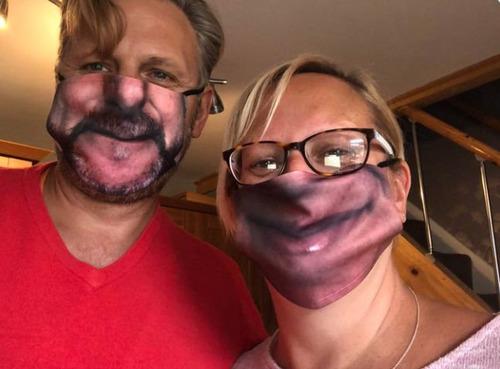 口元の印刷をしたマスク07