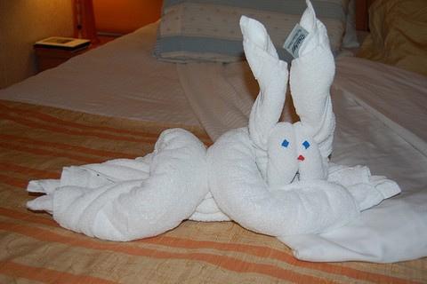 ホテルのタオルで折り紙05