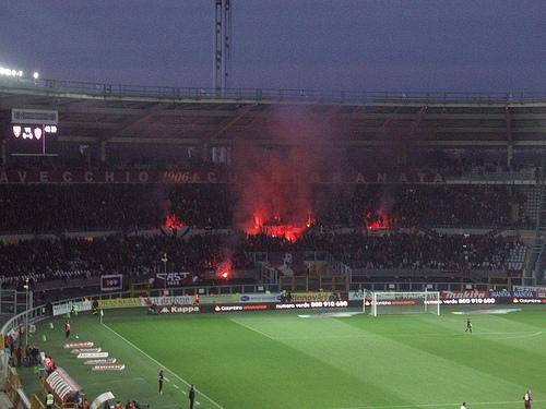 ローマのサッカーのサポーター00