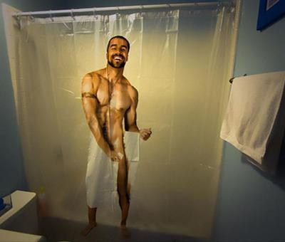 面白シャワーカーテン10