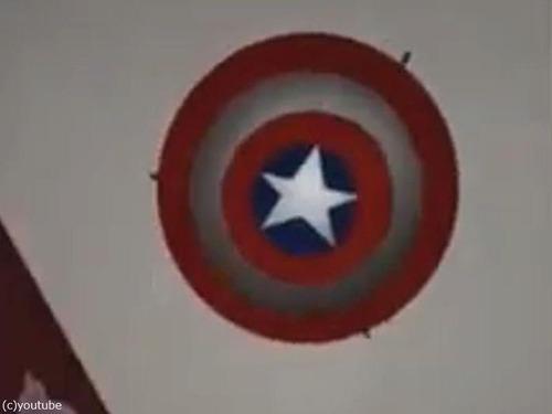 キャプテンアメリカの盾の照明を自作03