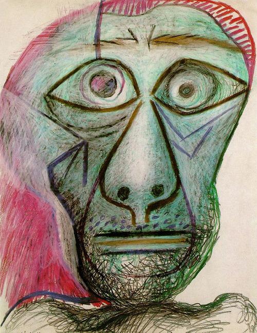 パブロ・ピカソ「最後の自画像」(1972)
