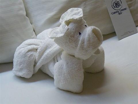 ホテルのタオルで折り紙11