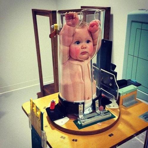 赤ちゃんのレントゲン撮影01