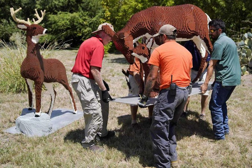 サンアントニオ動物園がレゴの動物を展示18