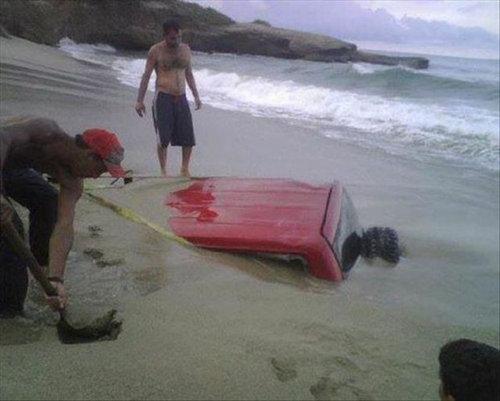 ビーチの失敗09