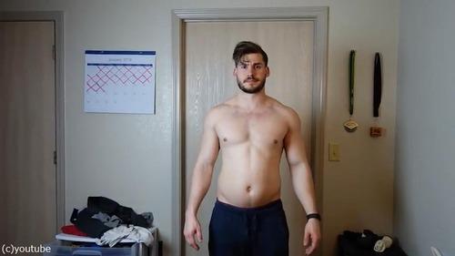 男性の3か月のダイエット動画02