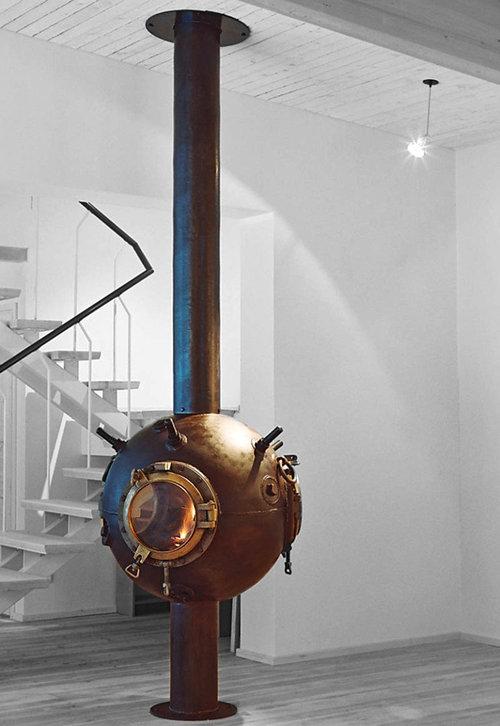 ソ連時代の「機雷」をインテリアに改造02