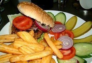 ハンバーガーの量03