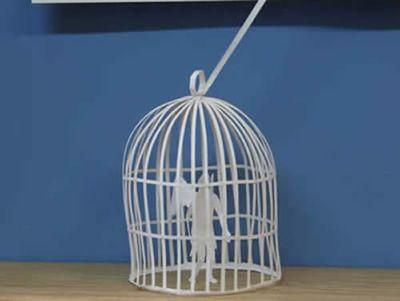 美しく繊細なペーパーアートの世界-鳥かごの天使2