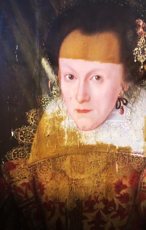 400年前の絵画の汚れを取り除いた結果06