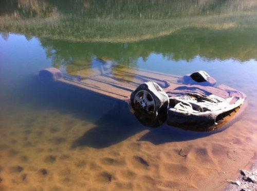 干ばつで変わり果てたフォルサム湖10
