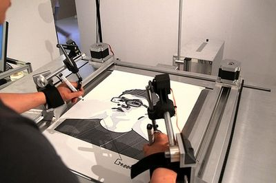 絵が下手でも自画像を描かせてくれるマシーン01