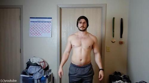 男性の3か月のダイエット動画03