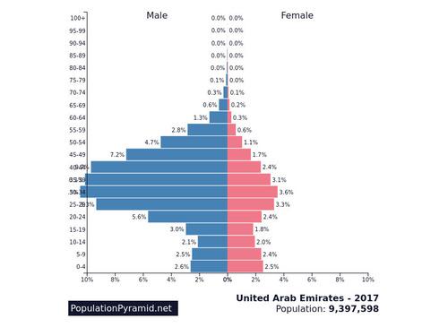 UAEの人口ピラミッド01