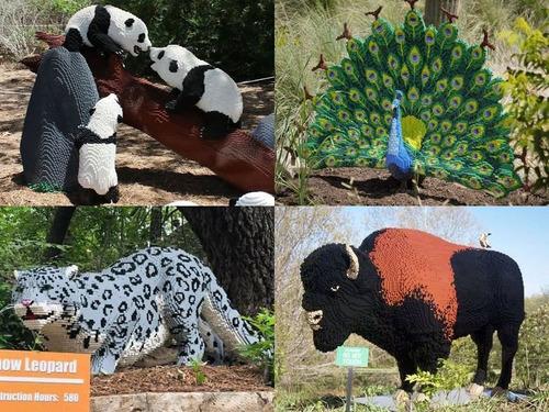 サンアントニオ動物園がレゴの動物を展示00