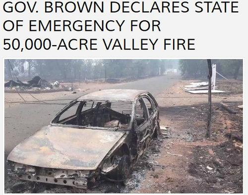 カリフォルニアの火事02