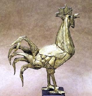 神レベルの素敵な折り紙-ニワトリ