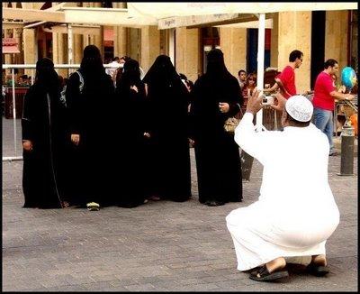 イスラム女性の記念撮影