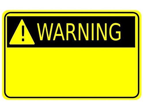 警告の表示タグがついているとしたら