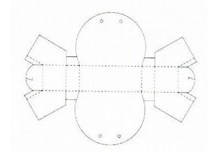 ギフトボックスの展開図16