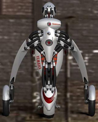 変形・装着するバイク02