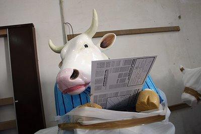 スペインの面白牛彫刻11