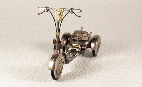 時計で作ったバイク18