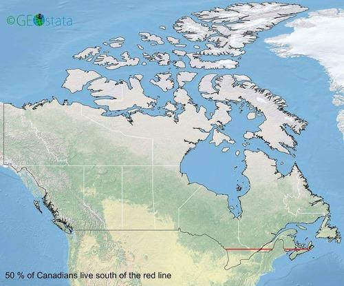 カナダの半分の人口はここに住んでいる01