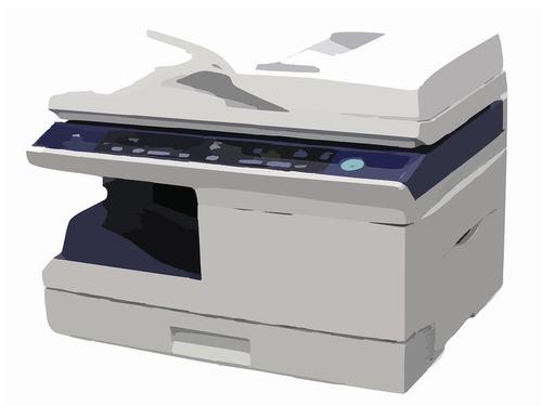 コピー機と母子