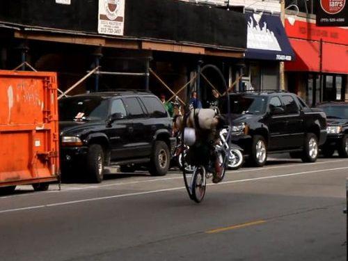 縦に回る自転車01