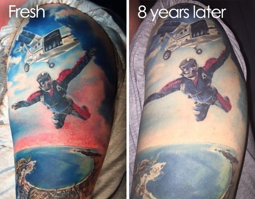 タトゥーの劣化01