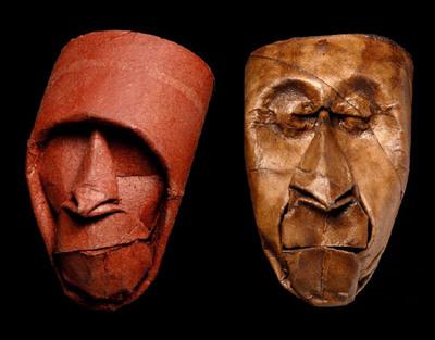 トイレットペーパーの芯で造った顔アート04