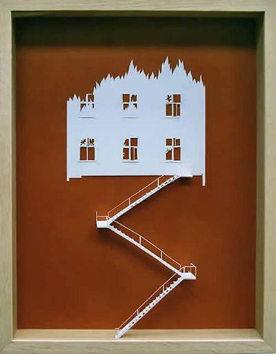 美しく繊細なペーパーアートの世界-ホーンテッドマンション