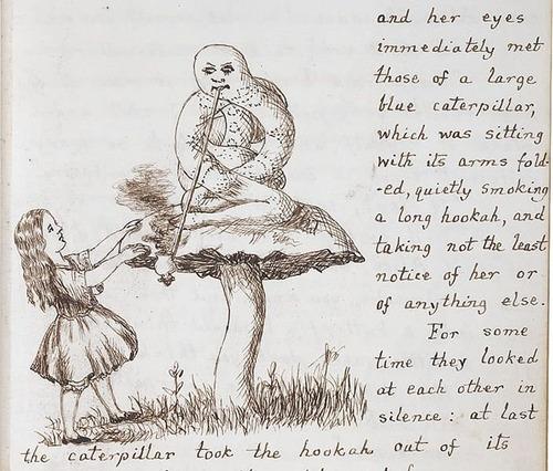 「不思議の国のアリス」のオリジナル原稿06