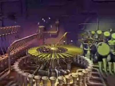 ベースやドラムの音に連動したCGアニメのYoutube動画