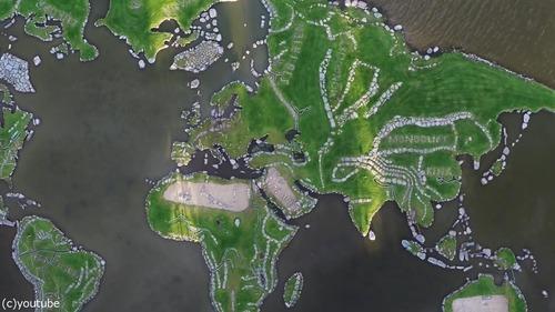 デンマークの湖に大きな世界地図13