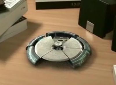 小型のUFOが格好よく変形するCG動画