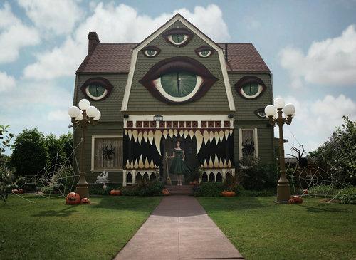 ハロウィンで話題をさらった家01