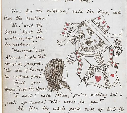 「不思議の国のアリス」のオリジナル原稿10