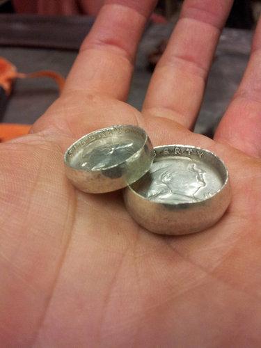コインから作ったリング15