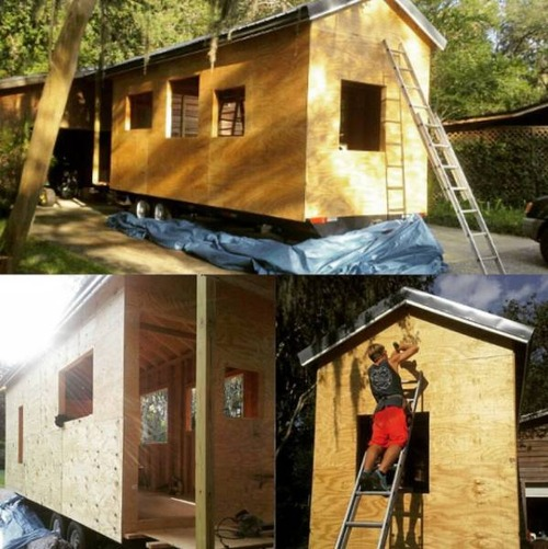 学生寮の代わりに自宅を建設した学生05