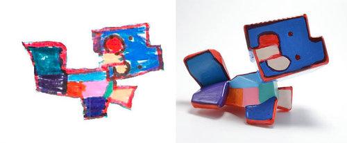 子供の絵を3Dプリンターで再現09