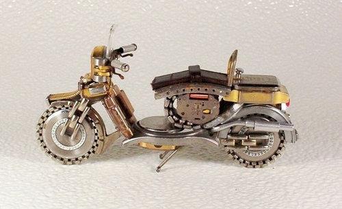 時計で作ったバイク11