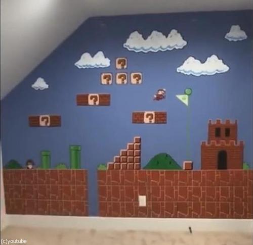 スーパーマリオの壁を描く02