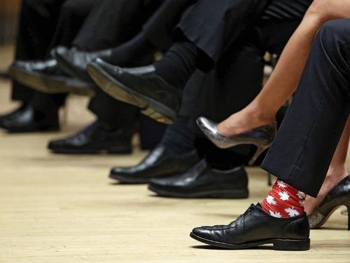 カナダ首相の靴下06