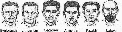 ソ連が使っていた人種別スケッチ01-2