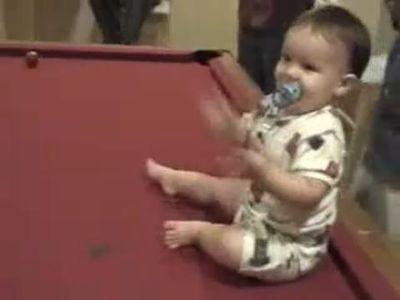 ビリヤード赤ちゃん