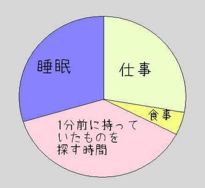 自分の人生を項目別に分割した図